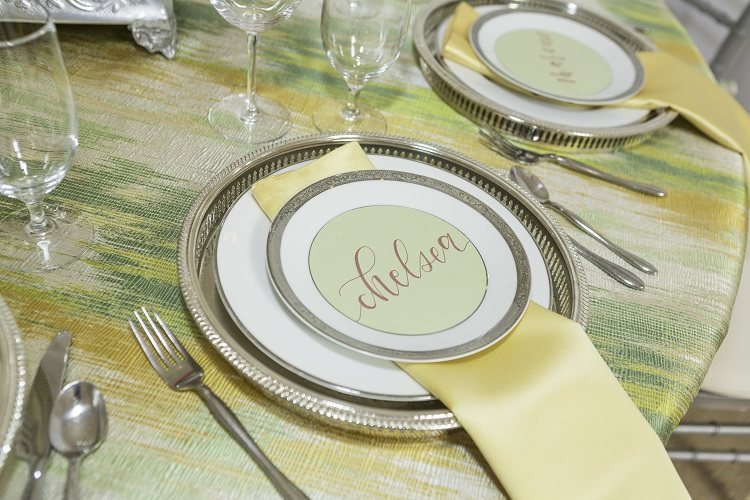 Yellow Lamour Table Linen