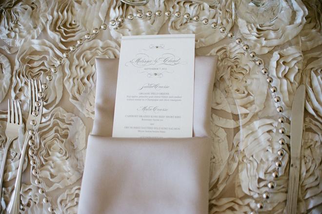 Antique Ivory Rosette Table Linen