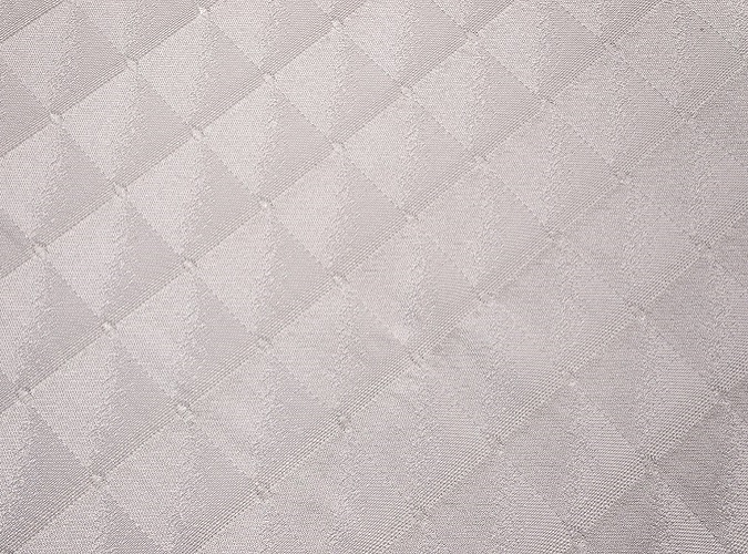 Diamonte Table Linen, White Geometric Table Cloth