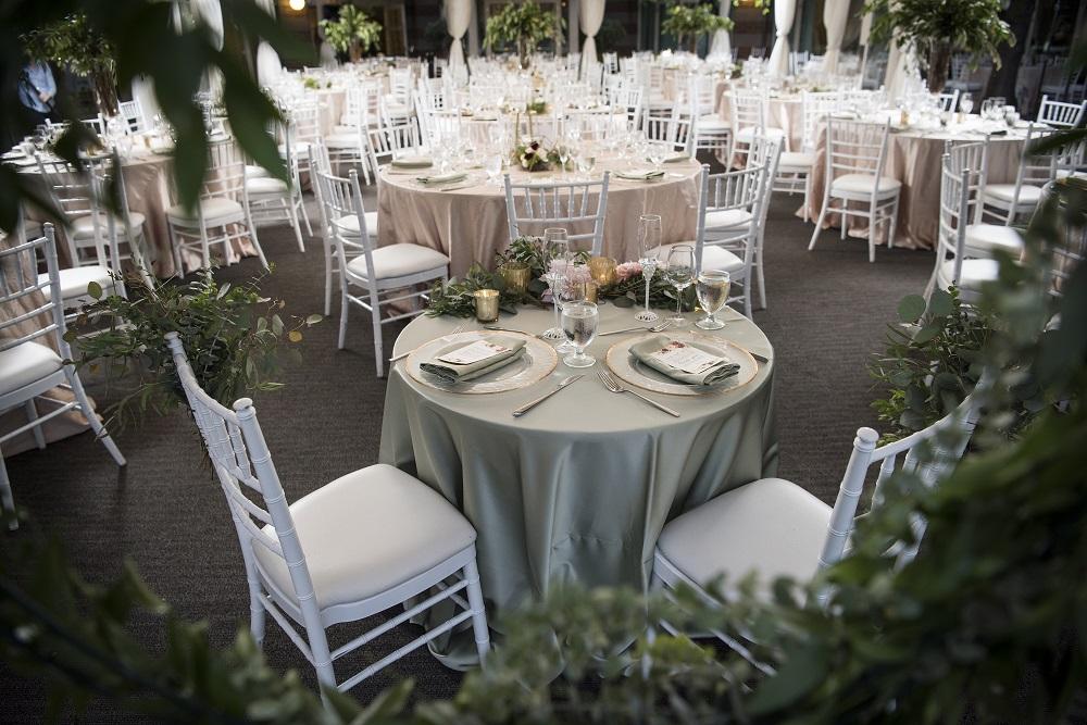 Sage Lamour Table Linen, Champagne Crush Table Linen