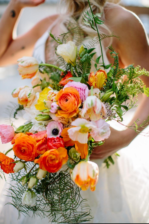 Bright Bridal Bouquet, Orange Bridal Bouquet