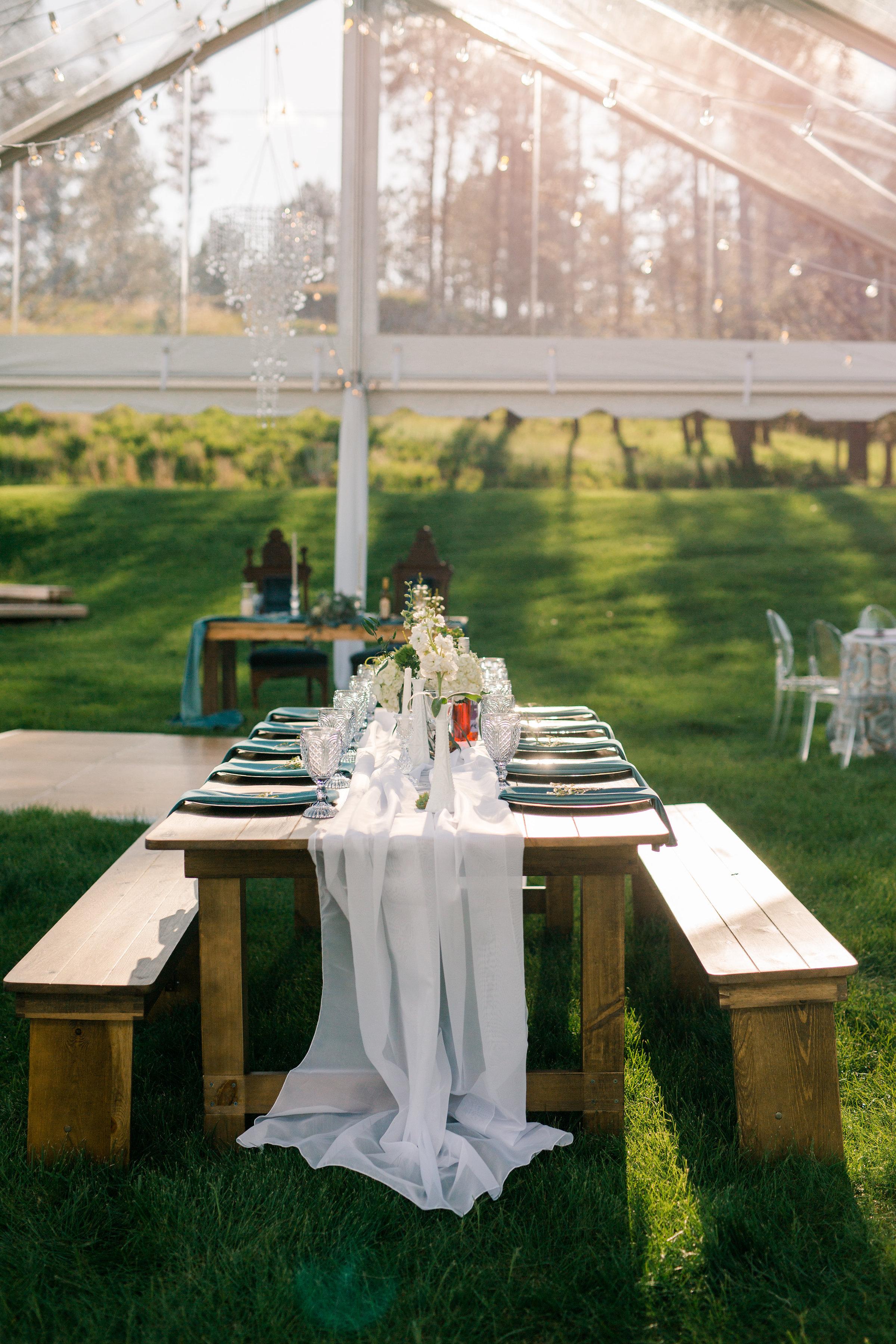 White Voile Table Veil, Sheer Table Runner, Rustic Wedding