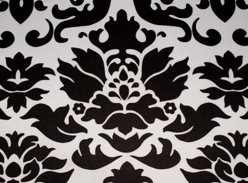 Black & White Baroque Table Linen