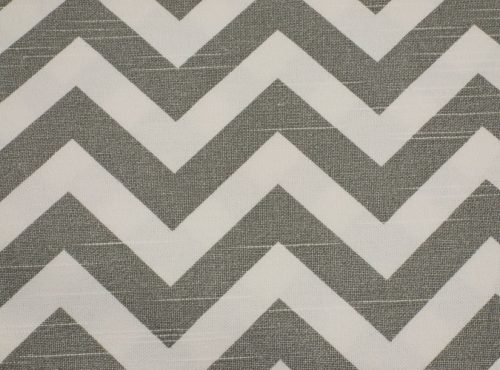 Rustic Cool Grey Chevron Table Linen