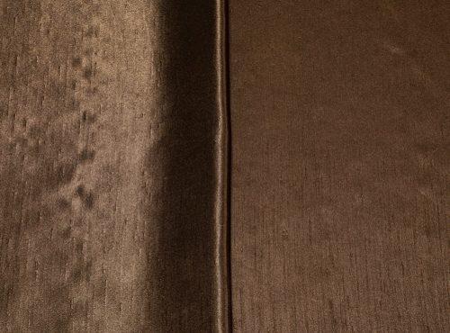 Dark Brown Shantung Reversible Table Linen