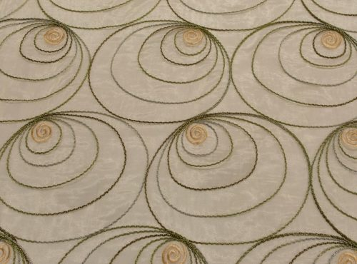 Gold Shimmer Swirl Table Linen