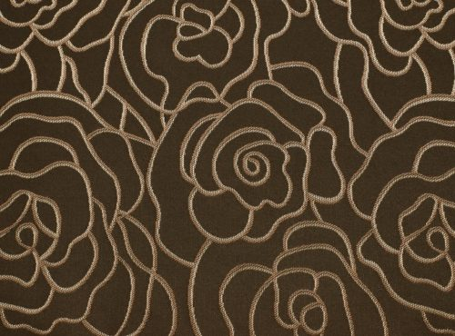 Mahogany Rio Table Linen, Brown Floral Table Cloth