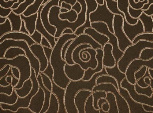 Mahogany Rio Table Linen, Brown Floral Table Cloth