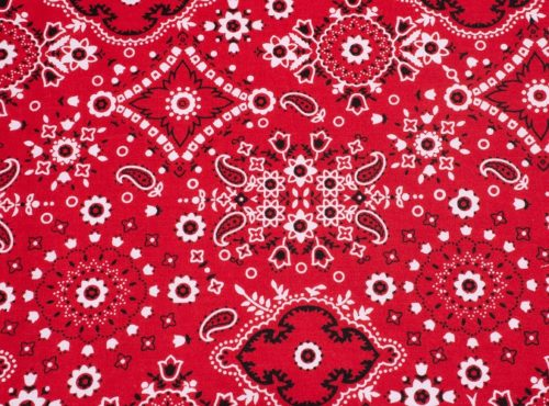 Red Bandana Linen, Western Table Cloth