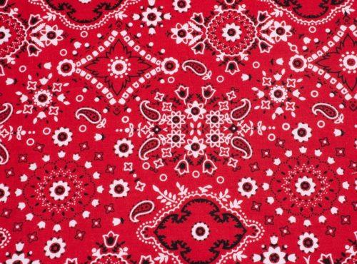 Red Bandana Linen, Western Table Cloth