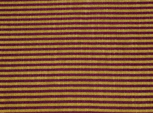 Shakespeare Table Linen, Burgundy and Gold Stripe