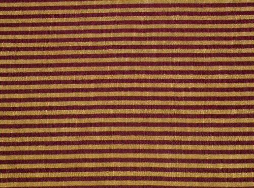 Shakespeare Table Linen, Burgundy and Gold Stripe