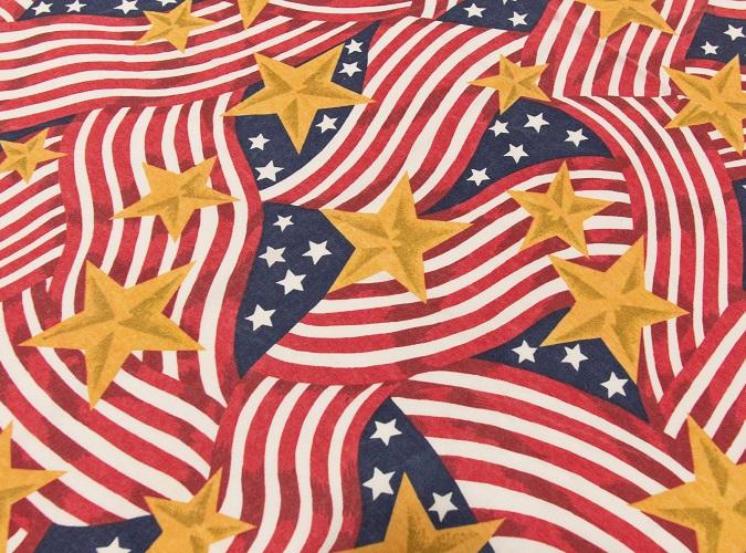 Stars & Stripes Table Linen, American Table Linen, American Flag Table Cloth, 4th of July Table Linen