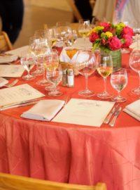 Terracotta Pintuck Linen, Orange Table Cloth