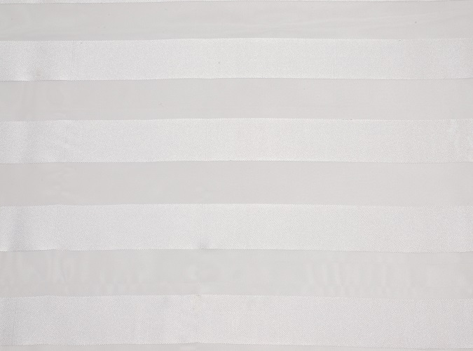 White Eternity Stripe Table Linen