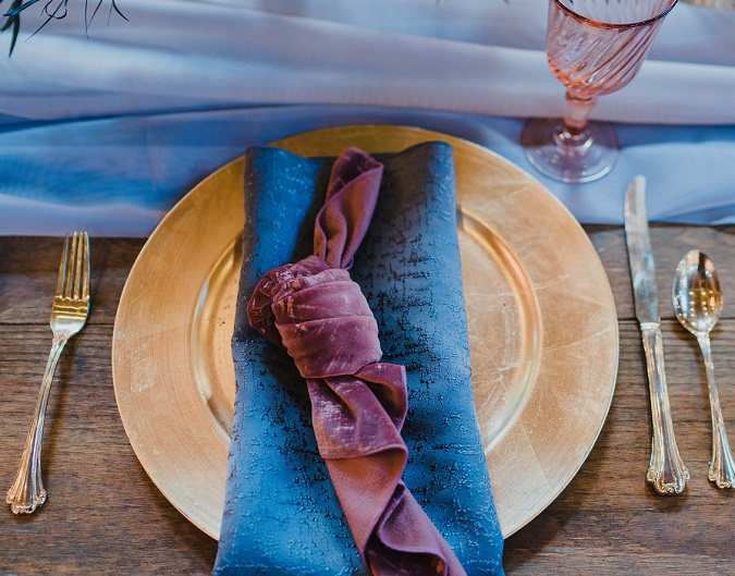 Gunmetal Tavira Napkin, Grey Textured Table Linen