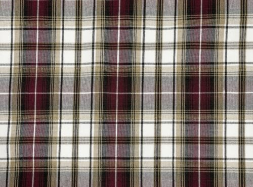 Manchester Plaid Table Linen, Burgundy Plaid Table Cloth