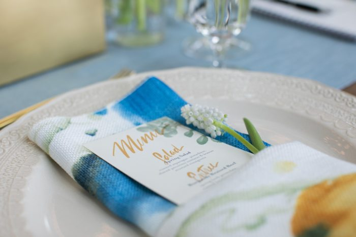 Van Gogh Table Linen, Blue Floral Table Cloth