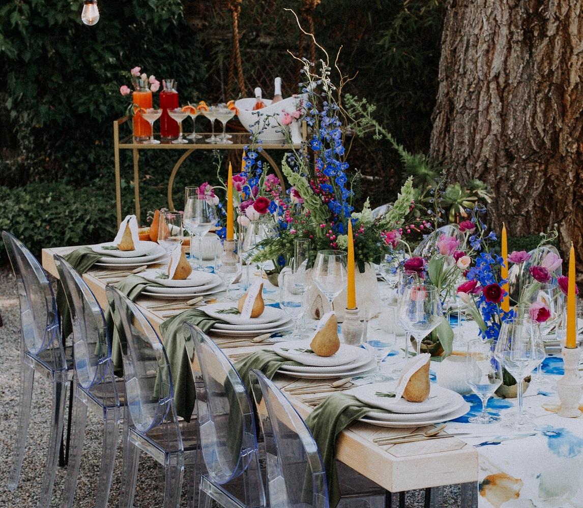 Leaf Plush Velvet Napkin, Green Velvet Napkin, Blue Floral Table Runner, Van Gogh Runner