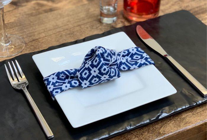 Indigo Santa Fe Napkin, Dark Blue Patterned Napkin, #theNAPKINmovement