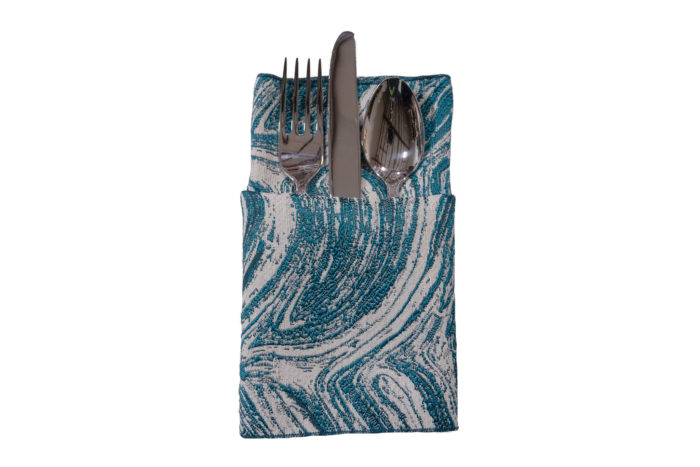 Peacock Marble Napkin, Teal Swirl Napkin, #theNAPKINmovement