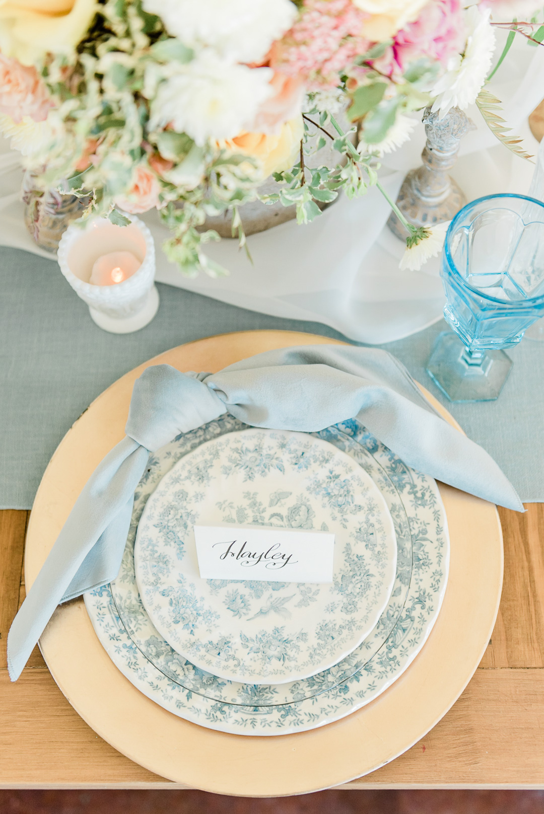 Ice Blue Plush Velvet Napkin, Light Blue Velvet Napkin
