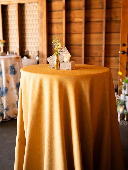 Marigold Linnea Table Linen, Yellow Linen Table Cloth