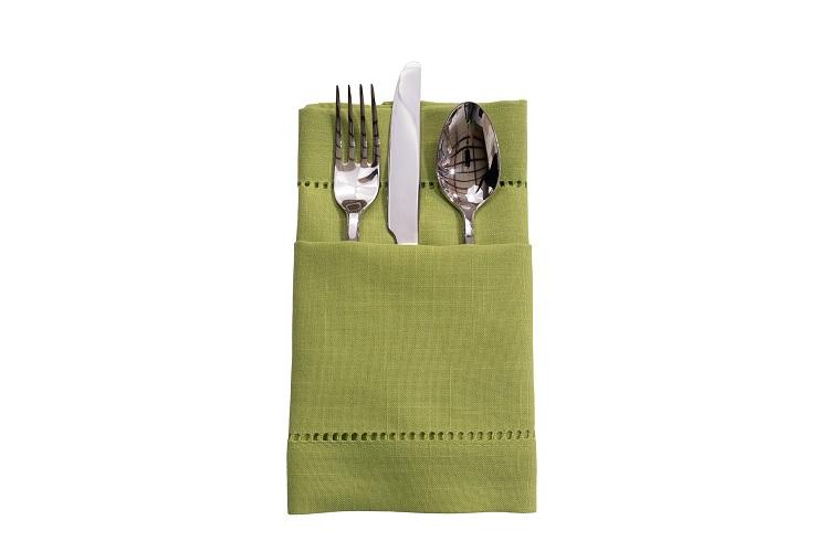 Pistachio Hemstitch Napkin, Green Linen Napkin, #theNAPKINmovement