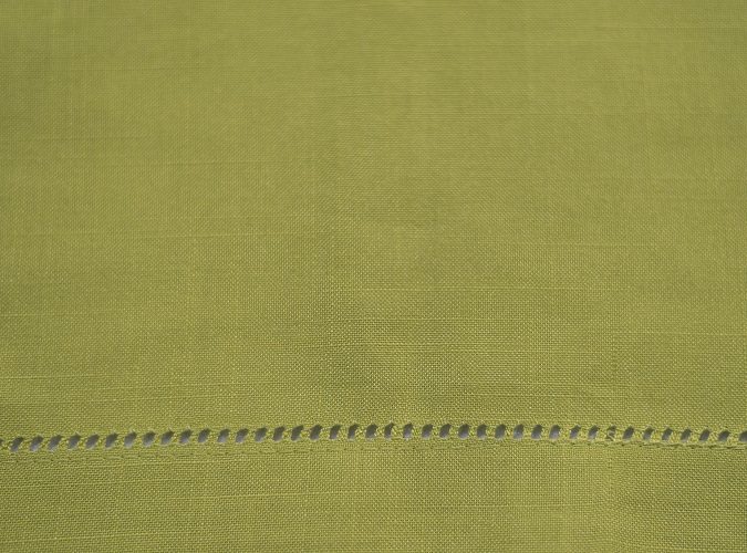 Pistachio Hemstitch Napkin, Green Linen Napkin, #theNAPKINmovement