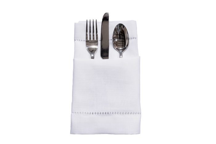 White Hemstitch Napkin, White Linen Napkin, #theNAPKINmovement