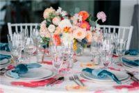 Monet Pink Floral Linen