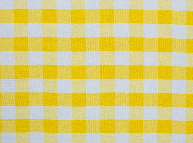 Yellow Check Table Linen, Yellow Gingham Table Cloth