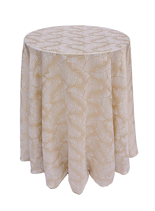 Colada Havana Table Linen, Tan Leaf Table Cloth