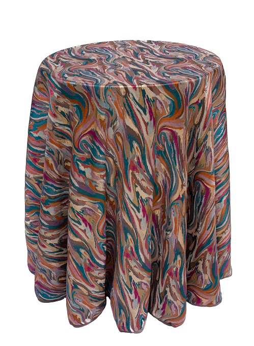 Mardi Gras Carnivale Table Linen, Multi Color Swirl Table Cloth