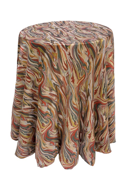 Rio Carnivale Table Linen, Multi Color Swirl Table Cloth