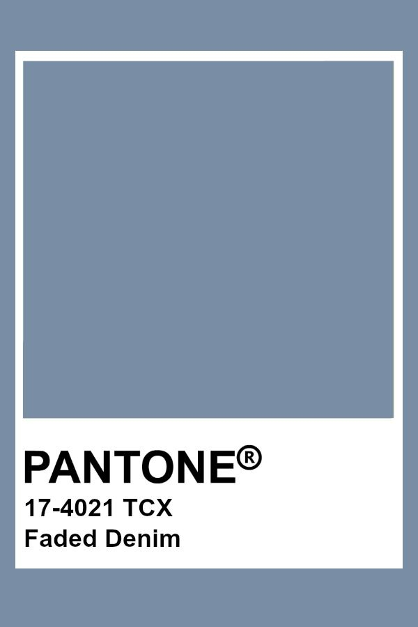 Pantone 17-4021 Faded Denim, Slate Blue Pantone Color