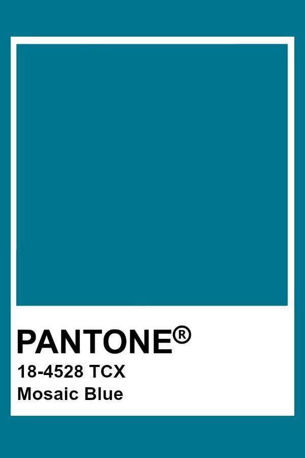 Pantone 18-4528 Mosaic Blue