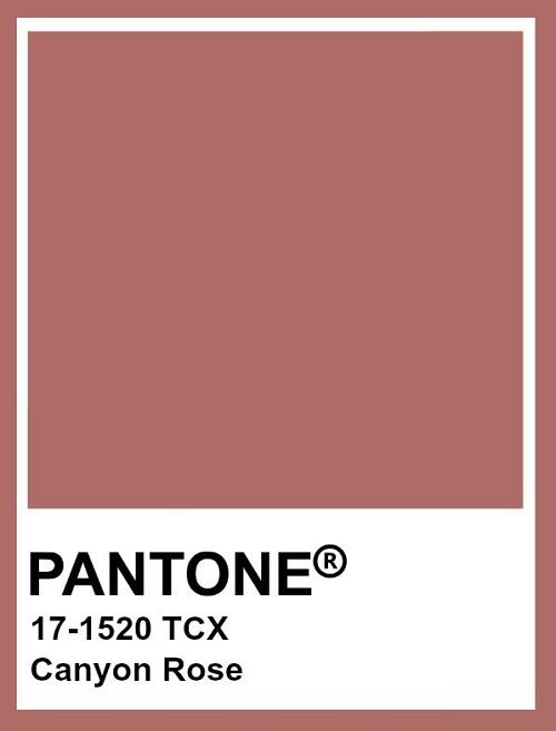 Pantone 17/1520 Canyon Rose