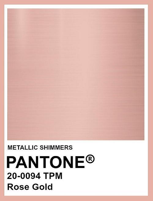 Pantone 20-0094 Rose Gold