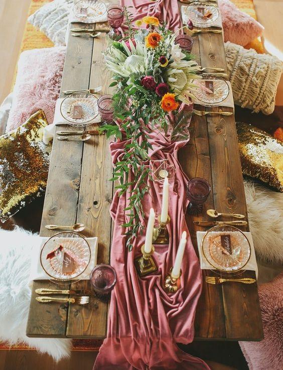 Cinnamon Rose Tablescape