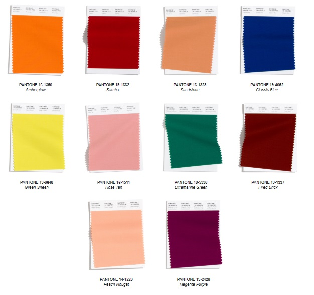 Pantone NY Fashion Week Autumn/Winter 2020/2021 Color Trends