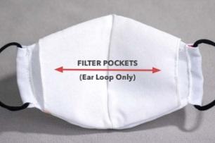 Ear Loop Mask with Filter Pocket Inside